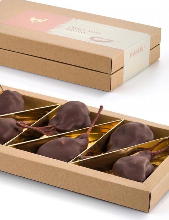 Čokoladne hruške na peclju...